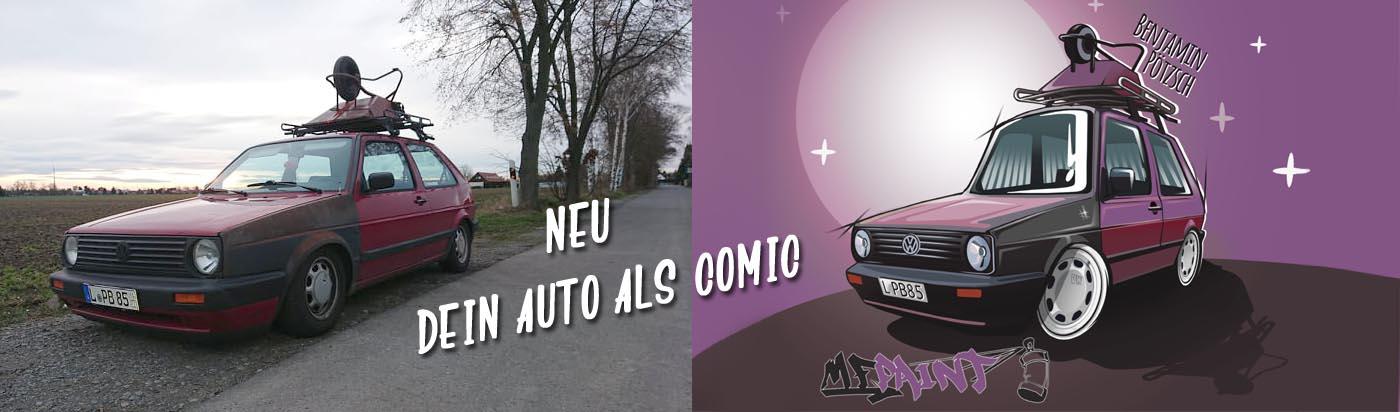 Neu Dein Auto als Comic