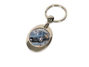 Metall-Schlüsselanhänger mit Wagenship